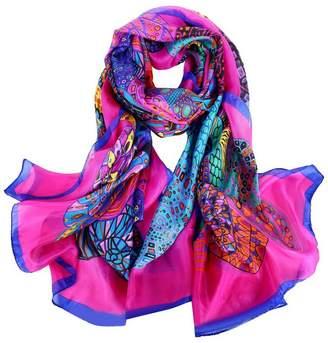 Smartstar Women Lady Printed Soft Silk Large Shawl Scarves