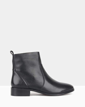 betts Colt Leather Zip Up Ankle Boots