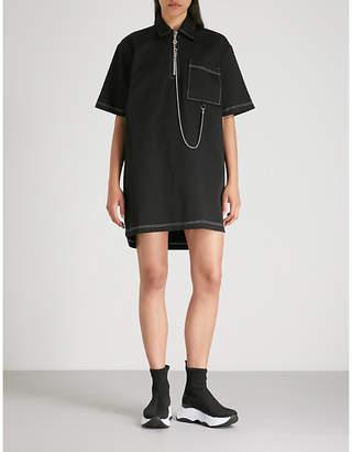 THE RAGGED PRIEST Drill Chain cotton shirt dress