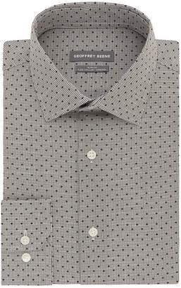 Geoffrey Beene Flex Collar Stretch Slim Fit Long Sleeve Broadcloth Checked Dress Shirt - Slim