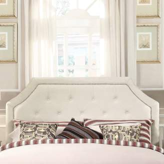 Weston Home Curtis II Arched Bridge Nailhead Cream White Bedroom Headboard, Multiple Sizes