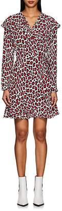 Robert Rodriguez Women's Lena Leopard-Print Wrap Dress
