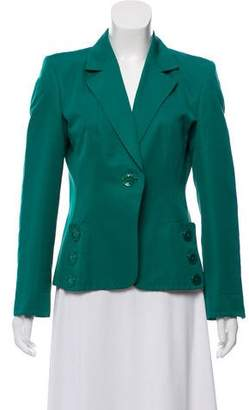 Max Mara Button-Accented Structured Blazer