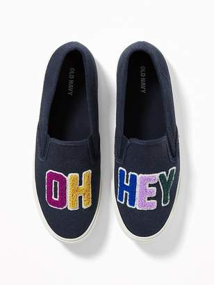 """Old Navy """"Oh Hey"""" Graphic Slip-Ons for Women"""