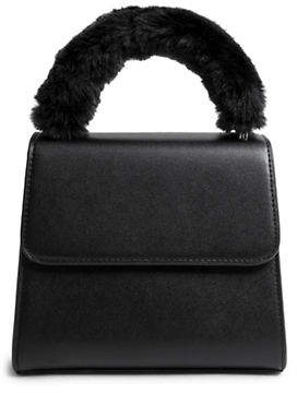 Steve Madden Faux Fur Top Handle Satchel Bag
