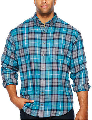 Izod Ls Woven Long Sleeve Flannel Shirt-Big and Tall