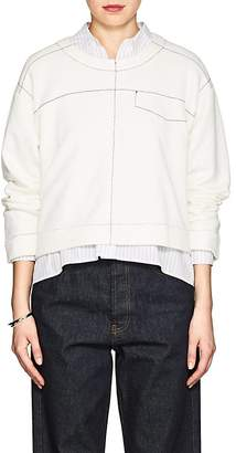 MM6 MAISON MARGIELA Women's Stitched Cotton-Blend Sweatshirt