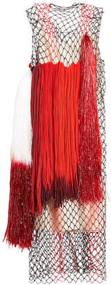Calvin Klein Dress with Mesh and Fringing