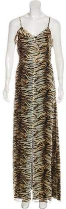 Saint Laurent Silk Maxi Dress