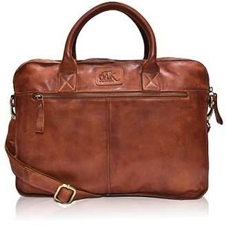 """Leather Messenger bag for men 15"""" Laptop Satchel Shoulder Bag for Men and Women ()"""