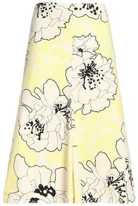 Marni Floral-Print Cotton-Poplin Skirt