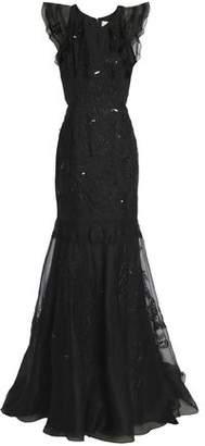 J. Mendel J.Mendel J.mendel Embellished Embroidered Organza Gown