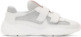 Prada White Mesh Sneakers