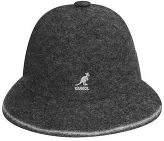Kangol Headwear Wool Stripe Casual Bucket Hat in Grey