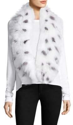 Adrienne Landau Knit Fox Fur Scarf