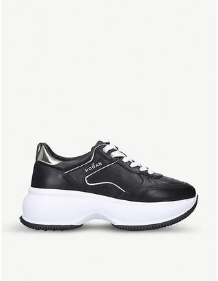 Hogan H435 leather and suede trainers