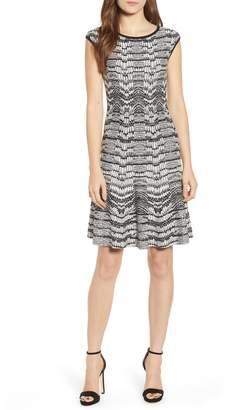 Sentimental NY Pattern Sweater Dress