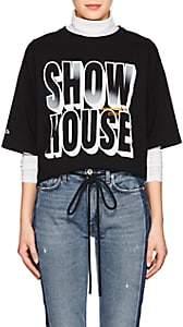 "Heron Preston Women's ""Showhouse"" Cotton Jersey Oversized T-Shirt - Black"