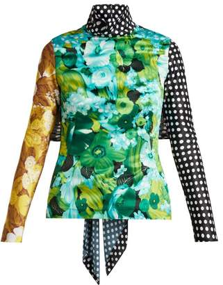 Richard Quinn - Floral And Polka Dot Print Top - Womens - Multi