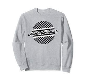 California Beach Checkered Design Checkered Huntington Beach Surf & Skate Style Gift For Teens Sweatshirt
