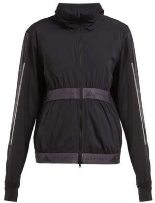 adidas by Stella McCartney Run Mesh Panel Performance Jacket - Womens - Black