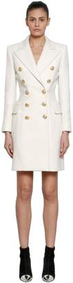 Balmain Double Breasted Cashmere & Wool Coat