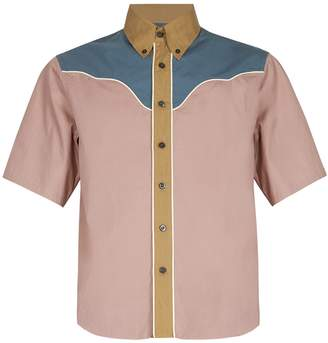 Prada Short-sleeved western cotton shirt