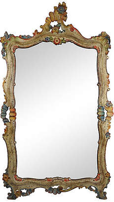 One Kings Lane Vintage 1920s Italian Polychrome Painted Mirror - Acquisitions Gallerie