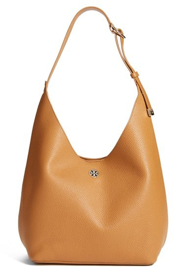 Tory Burch 'Perry' Leather Hobo - Brown
