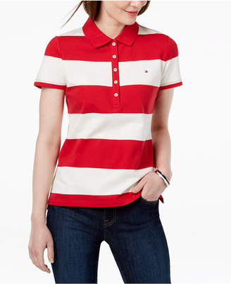 Tommy Hilfiger Striped Pique Polo Shirt