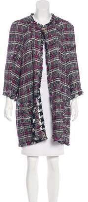 Chanel Fringe Tweed Coat