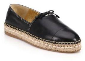 pradaPrada Leather Espadrille Flats
