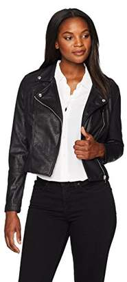 Moto Jason Maxwell Womens Outerwear Women's Cracked Suede Jacket