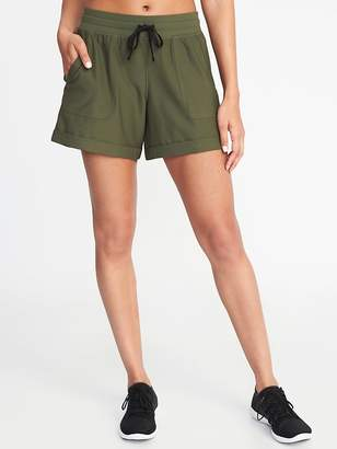Old Navy Twill Drawstring Performance Shorts for Women