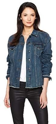 NYDJ Women's Denim Jacket with Frayed Hem