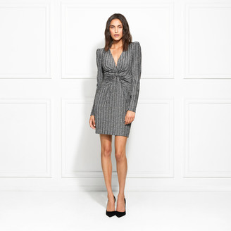 Rachel Zoe Poppy Metallic Stretch Jersey Mini Dress