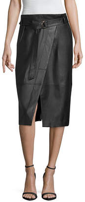 WORTHINGTON Worthington Womens Mid Rise Midi Wrap Skirt
