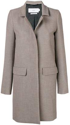 Closed houndstooth single breasted coat