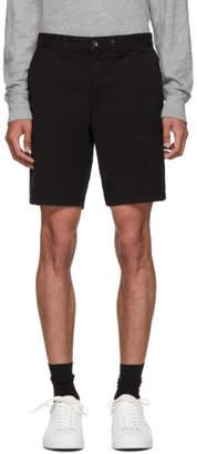 Rag & Bone Black Classic Fit 2 Chino Shorts