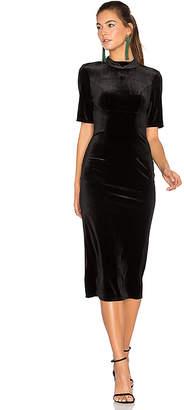 BCBGeneration Velvet Midi Dress in Black