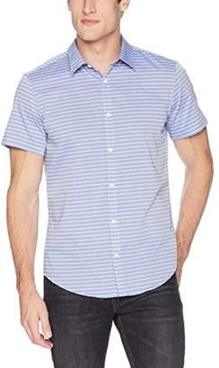 Calvin Klein Men's Horizontal Stripe Button Down Shirt
