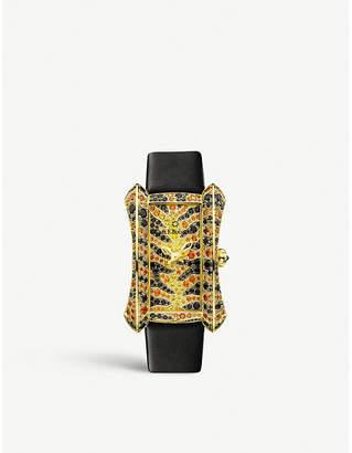 CARL F BUCHERER 00.10706.01.99.12 Alacria 18ct yellow-gold and sapphire watch