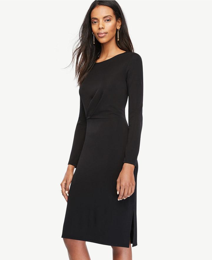 Ann TaylorDraped Matte Jersey Sheath Dress