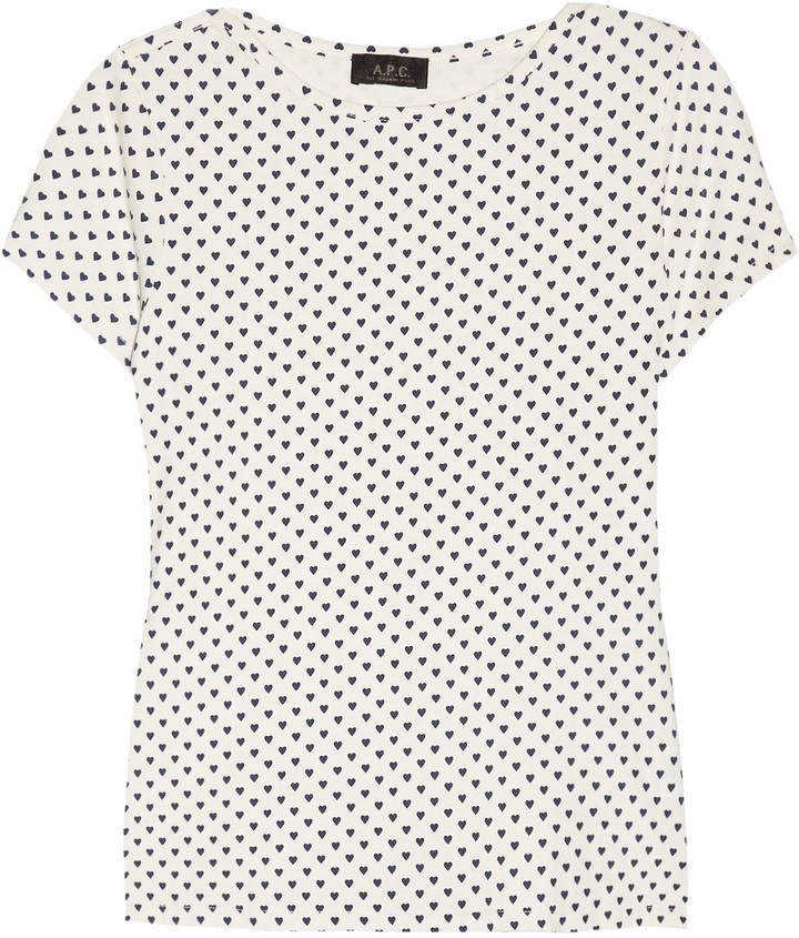 A.P.C. Heart-print cotton T-shirt
