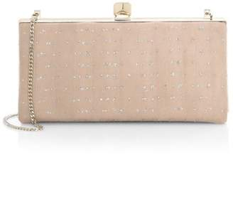 26af7ae44e7a Jimmy Choo Celeste Glitter Tulle & Suede Chain-Strap Clutch