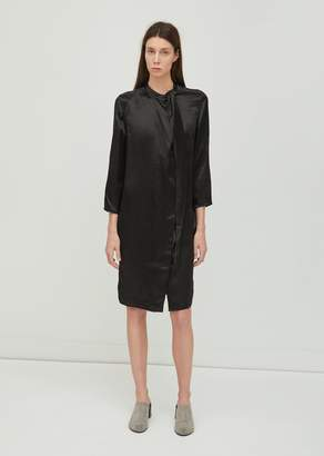 Acne Studios Doree Satin Dress Black