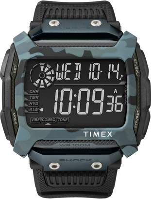Timex R Command(TM) Shock Digital Silicone Strap Watch, 54mm