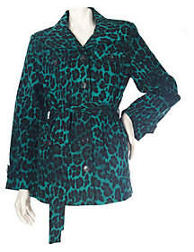 Linea by Louis Dell'Olio Stretch Cotton LeopardPrint Jacket