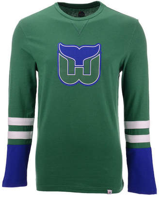 Majestic Men Hartford Whalers 5 Minute Major Long Sleeve T-Shirt