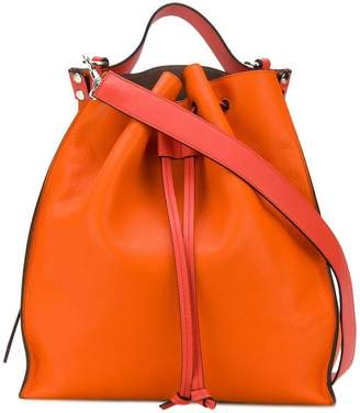 Drawstring Bag in Orange Grained Goatskin Leather J.W.Anderson Recommend For Sale Online Store Outlet Nicekicks Discount From China For Cheap Price QvepRDaVP